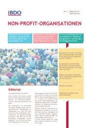 NON-PROFIT-ORGANISATIONEN - BDO