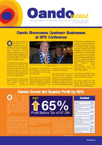Oando Showcases Upstr Oando Showcases Upstream ... - Oando PLC