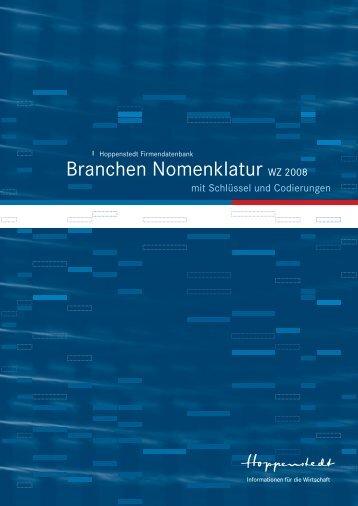 Branchencode WZ 2008 - Hoppenstedt Firmeninformationen GmbH