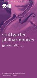 stuttgarter philharmoniker - Meister & Kammerkonzerte
