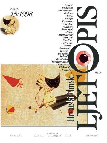 Hrvatski filmski ljetopis, broj 15 (1998) - Hrvatski filmski savez