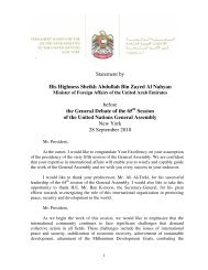Statement by His Highness Sheikh Abdullah Bin Zayed Al Nahyan ...