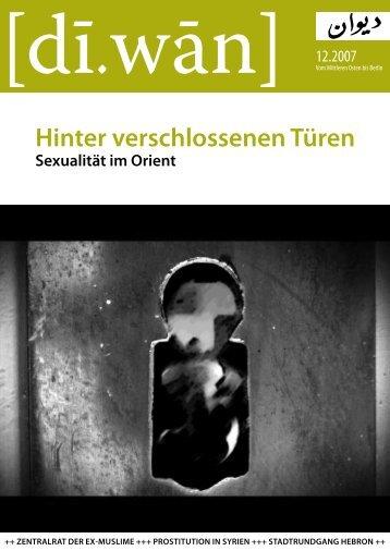 Hinter verschlossenen Türen Sexualität im Orient - [di.wan] Berlin