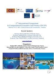 March, 15-17, 2012, Tunis (Elmouradi Gammarth) - iscef