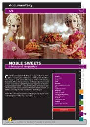 documentary Art NOBLE SWEETS a history of ... - Interspot Film