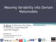Weaving Variability into Domain Metamodels