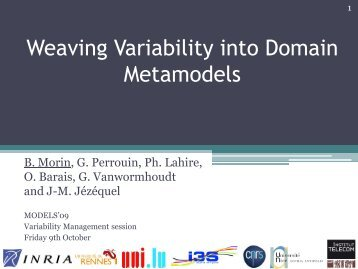 Weaving Variability into Domain Metamodels