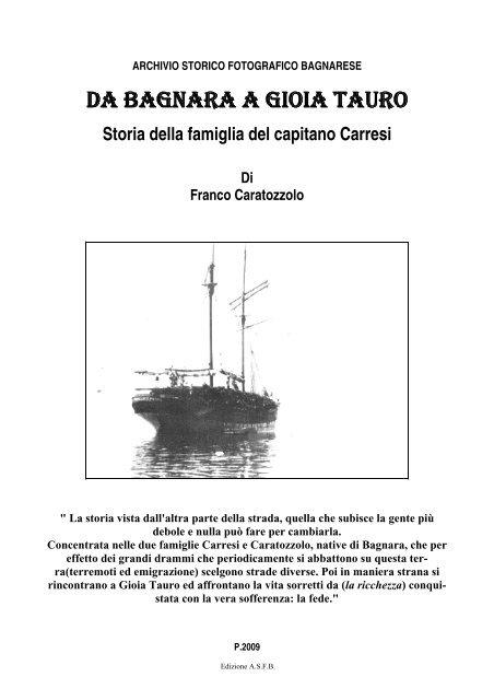 Storia della famiglia del capitano Carresi Di Franco Caratozzolo