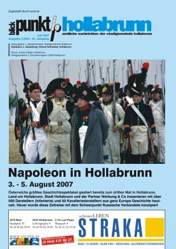 Napoleon in Hollabrunn - Russische Verbündete - NetTeam Internet