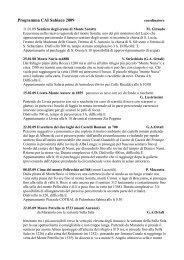 Programma CAI Subiaco 2009