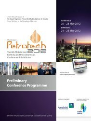 Preliminary Conference Programme - Middle East Petrotech 2012