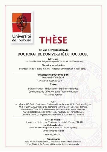 r - Les thèses en ligne de l'INP - Institut National Polytechnique de ...