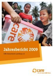 Jahresbericht 2009 - CARE Deutschland e.V.