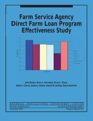 Farm Service Agency Direct Farm Loan Program Effectiveness Study