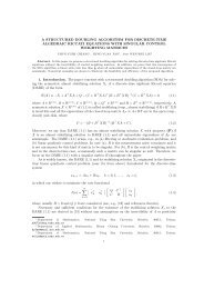 A STRUCTURED DOUBLING ALGORITHM FOR DISCRETE-TIME ...