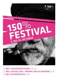 4. bis 14. OktOber - Theaterfestival 150% made in Hamburg