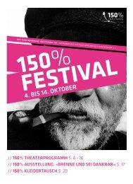 4. bis 14. OktOber - Theaterfestival 150% made in Hamburg