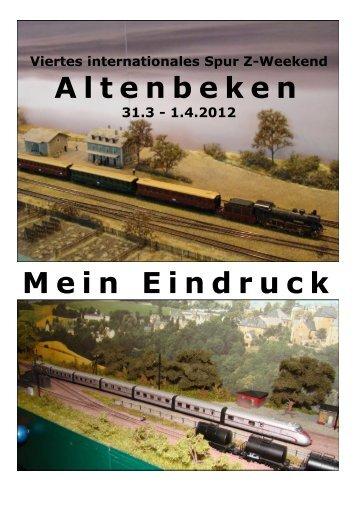 Altenbeken Mein Eindruck - Modellbahntechnik aktuell