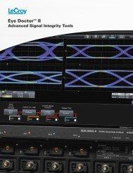 LeCroy Eye Doctor II Advanced Signal Integrity Tools Datasheet