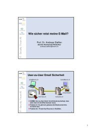Wie sicher reist meine E-Mail? - IT Security Forum