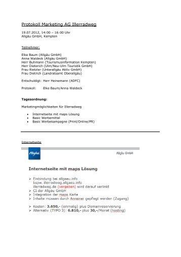 Bericht Sitzung 19.07.2012