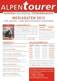 europas motorrad-tourenmagazin - corps. Corporate Publishing ...