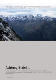 Achtung Stein! Teil 2 - Institut für Geologie - Universität Bern