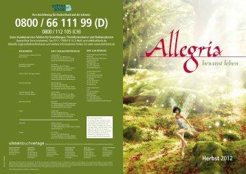 Allegria - bei den Ullstein Buchverlagen