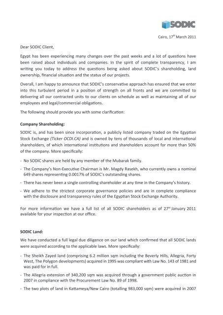 Letter To Customers Announcing Change In Management from img.yumpu.com
