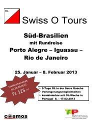 anmeldung brasilien-reise swiss o tours 2013 - Gruppenreisen-4u