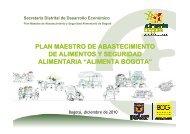 Plan Maestro de Abastecimiento y Seguridad Alimentario