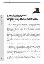 Ursulinen Gymnasium Mannheim: BerufsOrientierung BeO ...