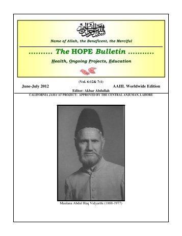 about us - Ahmadiyya Anjuman Isha'at-e-Islam Lahore