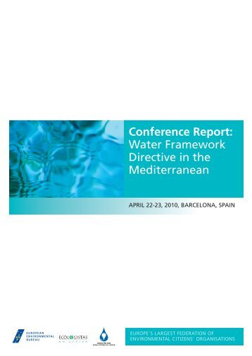 Conference Report: Water Framework Directive in the ... - EEB