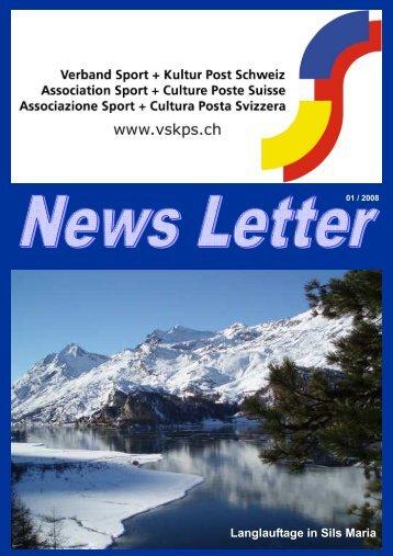 Newsletter 01-2008 - Verband Sport und Kultur Post Schweiz