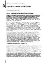 Aussenbeziehungen und Standortmarketing - Basel