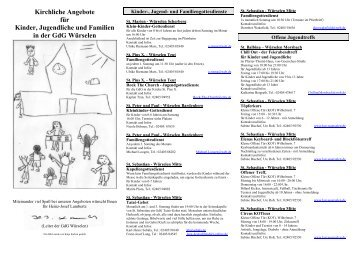 Kirchliche Angebote für Kinder, Jugendliche und Familien in der ...