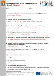 Erkundungsbogen für das Dümmer-Museum - Stufe II