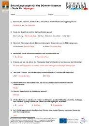 Erkundungsbogen für das Dümmer-Museum - Stufe III