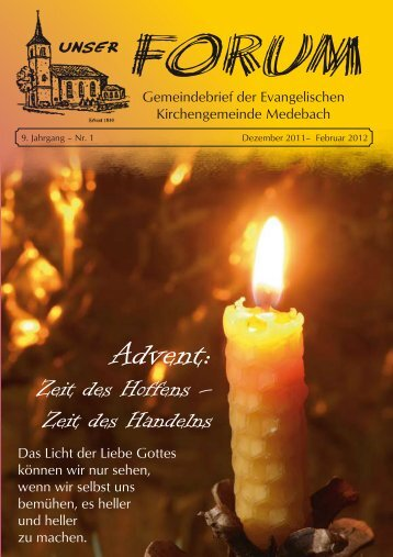 Dezember 2011 - Evangelischen Kirchengemeinde Medebach