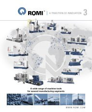A TRADITION OF INNOVATION - Romi
