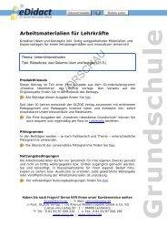Arbeitsmaterialien Grundschule - Rätselkreis: das ... - bei eDidact