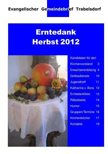 Erntedank Herbst 2012 - Evang.-Luth. Dekanat Bamberg