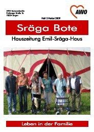 Sraegabote.pdf, Herbst 2009 - AWO - Emil-Sräga-Haus Singen a.Htwl.