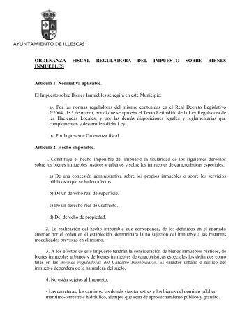 Or. Fis.reg. del impuesto sobre bienes inmuebles - Ayuntamiento de ...
