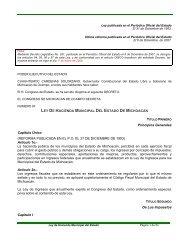 LEY DE HACIENDA MUNICIPAL DEL ESTADO DE MICHOACÁN ...