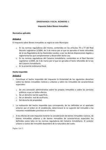 Impuesto Sobre Bienes Inmuebles 2012 - Ayuntamiento de Motril