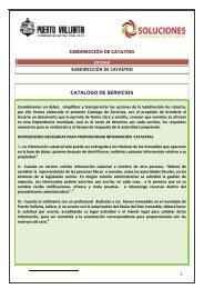 Documento con Servicios y Tramites de Catastro