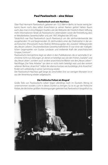 Paul Pawlowitsch – eine Skizze - Rotes Antiquariat