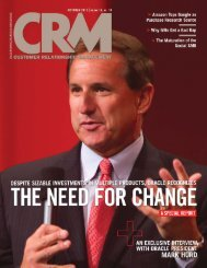 CRM Magazine: Exclusive Interview with Oracle President, Mark Hurd